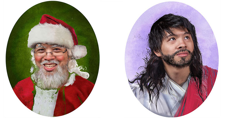 U.S. CENSUS, JESUS, Santa, sansus, photoshop